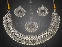 silver jewellery necklace sets images Pearl silver jewellery set price in pakistan m008868 prices jpg