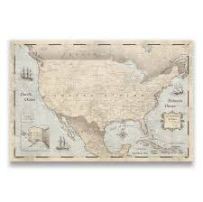 Colorado Usa Map by Usa Travel Map Pin Board W Push Pins Rustic Vintage Conquest Maps