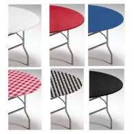 60 inch round elastic table covers fitted plastic tablecloths elastic my paper shop