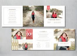 tri fold graduation announcements marketing set for senior photographers digital branding templates