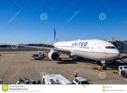 united airlines on the tarmac of narita airport editorial image