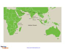 Ocean Map World by Free Indian Ocean Map Template Free Powerpoint Templates