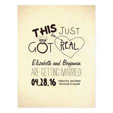 and this just got real cards save the date cards