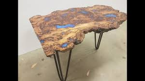 Making A Small End Table by How To Make An Epoxy Coffee Table Youtube