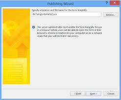 how to configure and publish infopath to sharepoint 2013