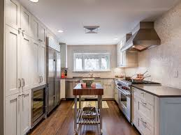 narrow kitchen with island narrow kitchen island houzz