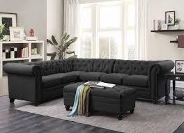 grey fabric modern living room sectional sofa w wooden legs roy sectional sofa 500292 in grey fabric by coaster w options