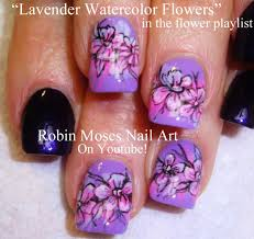 robin moses nail art cute pink nails with flowers that glow