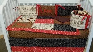 amazon com 3 piece rodeo western cowboy crib baby bedding set