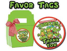 teenage mutant ninja turtles printable favor tags partymakeover