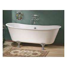 winchester 68 inch cast iron double ended clawfoot tub