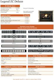 the legend zc deluxe fireplace doors are custom made in the usa by