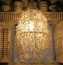 and pearl chandelier diy pearl strand l design dazzle