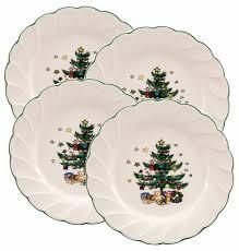 nikko happy holidays 8 inch salad plate set of 4