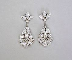 vintage wedding earrings chandeliers teardrop chandelier swarovski earrings tastefully