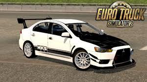 mitsubishi evo modded ets 2 mitsubishi lancer evo x car mod youtube