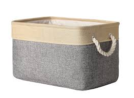 Decorative Cardboard Storage Boxes Home Organization Amazon Com Thewarmhome Decorative Collapsible Rectangular Fabric