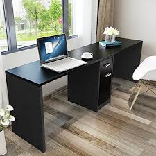 Computer Desk With Filing Cabinet Tribesigns Double Workstation Computer Desk With Filing Cabinet