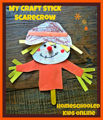 magazine for homeschooled kids craft stick scarecrow for kids