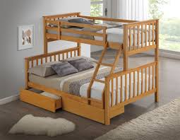 Hardwood Bunk Bed Artisan New 3 Sleeper Wooden Bunk Bed Beech