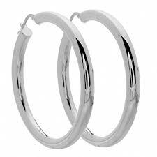 silver hoop earrings amoro italian sterling silver large hoop earrings 45mm
