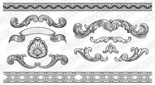 classic border design vector set ornament pixempire