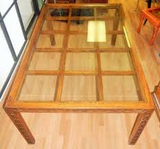 vintage glass top dining table vintage mahogany wood rectangle lattice motif glass top dining table