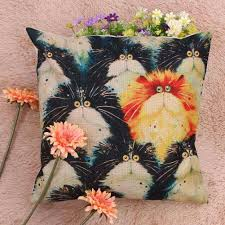 aslt creative colorful oil painting cushion cover 45x45cm 18x18in