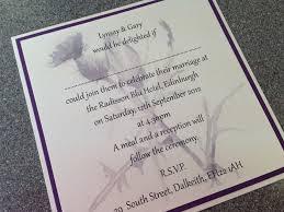 wedding invitations edinburgh diy wedding invitations edinburgh 28 images purple at
