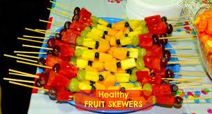 fruit skewers a healthy kid u0027s party food idea