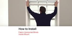 How To Shorten Blinds From Home Depot Bali Blinds How To Install Fabric Horizontal Blinds Inside