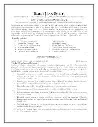 Sample Resume Objectives Entry Level Marketing by Entry Level Marketing Resume Free Resume Example And Writing