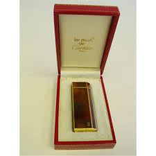 cartier boxed lighter gold filled