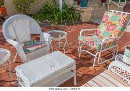 Wicker Furniture Stock Photos  Wicker Furniture Stock Images Alamy - Outdoor white wicker furniture