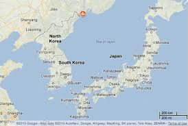 Map Of World Korea by Map Pinpointing The Seismic Activity Just Detected Along The