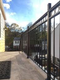 modern wrought iron railing lake sunapee living
