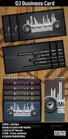 dj business card template by hotpin graphicriver
