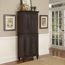 kitchen black tall stand alone kitchen pantry with cabinet and