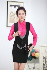 formal uniform style slim fashion business women jackets waistcoat