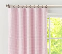 Plum Blackout Curtains Gingham Blackout Panel Pottery Barn Kids