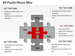 3d puzzle pieces misc powerpoint presentation templates