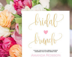 brunch invites bridal brunch invite etsy