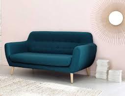 le monde du canapé canapé vintage 2 3 places iceberg en tissu jaune canapé maisons du