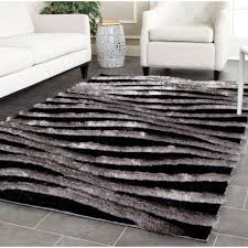 Modern Area Rugs 10x14 Decoration 3d Black And Gray Area Rugs In Awesome Pattern For