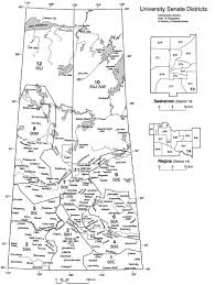 Map Of Saskatchewan Senate Districts University Of Saskatchewan