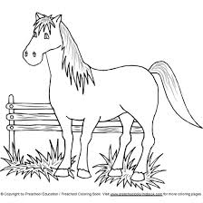 horse colouring pages preschoolers horse coloring pages
