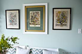 botanical prints sprinkled around house