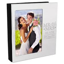 4 x 6 photo album personalised 4 x 6 mr and mrs aluminium silver photo album wedding