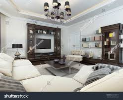 living room art deco style 3d stock illustration 259988117