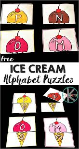 kindergarten worksheets and games free ice cream alphabet puzzles